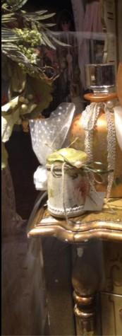 Vintage μπομπονιέρα γάμου κερί με φλοράλ λουλούδια σε ντεκουπάζ