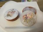 Μπιζουτιέρα κεραμική με φλοράλ λουλούδια
