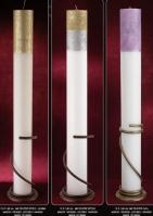 3f6874d845cd Σικάτες λαμπάδες γάμου στρογγυλά κεριά με γκλίτερ σε χρώματα