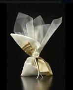 Πουγκί σατέν διπλός φιόγκος λουλούδι Νο0138-127