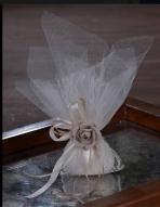 Τούλινη με δαντέλα και λουλούδι λινάτσα Ν0108