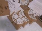 Νέο κουτί μαξιλαράκι με δαντέλα στόλισμα