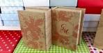 Βιβλίο κουτί φλοράλ σε χαρτί οικολογικό