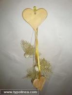 Κρεμαστή μπομπονιέρα με καρδιές από πορσελάνη