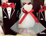 Νύφη και γαμπρός σε κουτί μπομπονιέρα