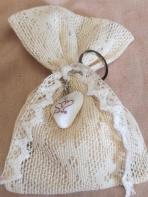 Βαμβακερή δαντέλα πουγκί μπρελόκι