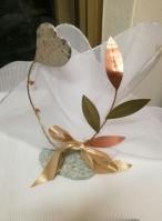 Πέτρα σταντ μεταλλικές καρδιά-ελιά