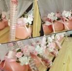 Ρεσώ-κερί σε βαζάκι με λουλούδι στόλισμα