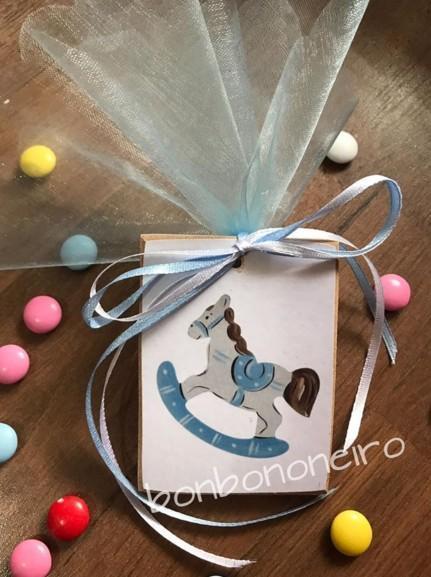 Καδράκι καρουσέλ μαγνητάκι μπομπονιέρα βάπτισης οικονομική