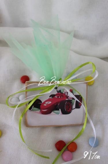 Καδράκι φόρμουλα-cars μαγνητάκι μπομπονιέρα βάπτισης οικονομική