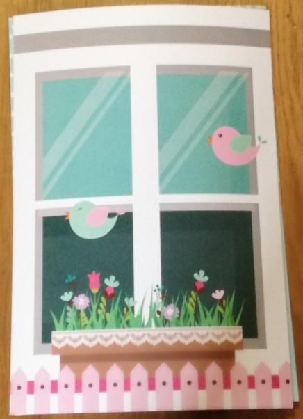 Κάδρο welcome βάπτισης με πουλάκια στο παράθυρο
