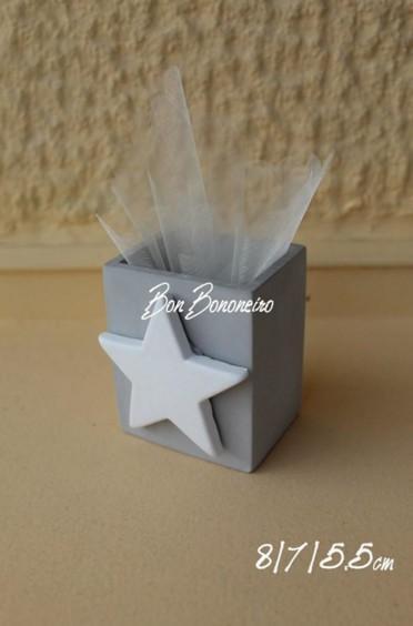 Αστεράκι σε χειροποίητη πορσελάνης μολυβοθήκη μπομπονιέρα βάπτισης