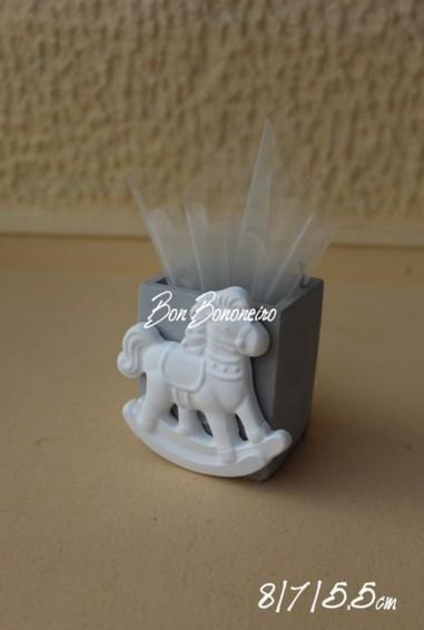 Καρουσέλ πορσελάνης μολυβοθήκη μπομπονιέρα βάπτισης