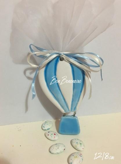 Μπομπονιέρα βάπτισης αερόστατο κεραμικό οικονομικό