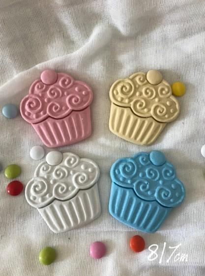 Κεραμικό στοιχείο cup cakes μεγάλο για μπομπονιέρα βάπτισης
