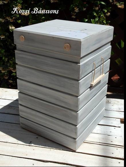 Απίθανο ξύλινο κουτί βάπτισης σε κύβο με ζωγραφιστό Μικρό Πρίγκιπα