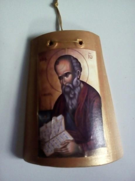 Κεραμίδι νέα μπομπονιέρα βάπτισης με Άγιο Ιωάννη Θεολόγο