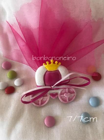 Μπομπονιέρα βάπτισης άμαξα κολοκύθα πριγκίπισσας με μαγνητάκι