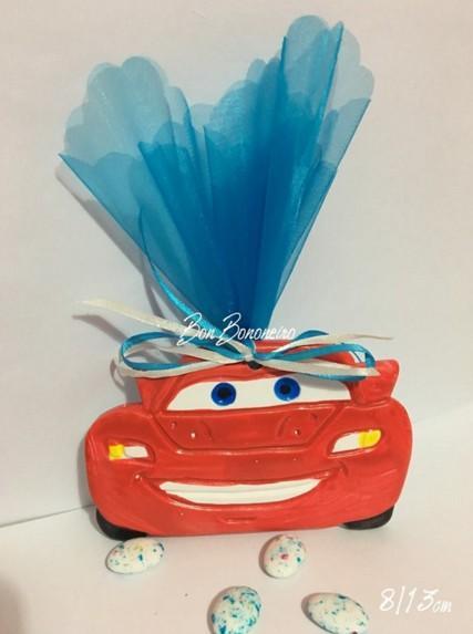 Μπομπονιέρα οικονομική βάπτισης κεραμικό αυτοκίνητο-cars