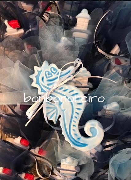 Μπομπονιέρα βάπτισης ιππόκαμπος κεραμικός οικονομική τιμή