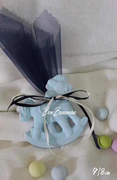Οικονομική κεραμική μπομπονιέρα βάπτισης καρουζέλ σιέλ