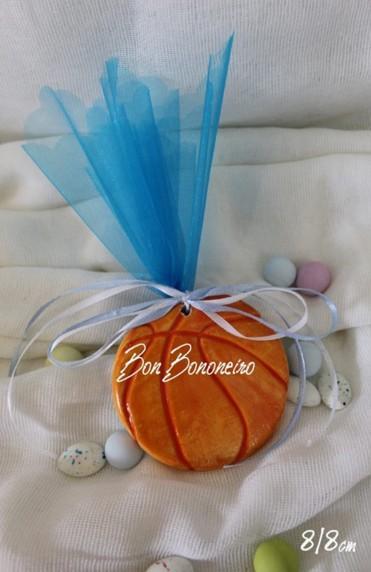 Μπομπονιέρα βάπτισης κεραμική μπάλα μπάσκετ