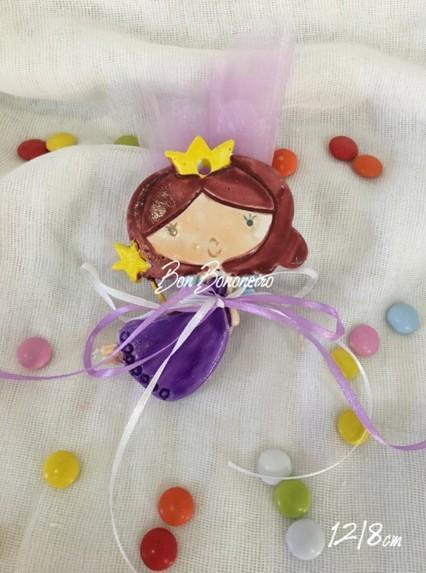Μπομπονιέρα βάπτισης κεραμική νεράιδα-πριγκίπισσα