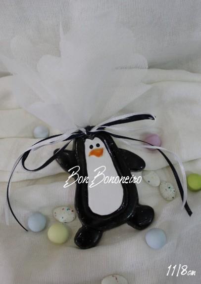 Μπομπονιέρα βάπτισης κεραμική πιγκουίνος με σμάλτο