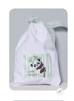 Αρκουδάκι panda θέμα σακίδιο πλάτης μπομπονιέρα βάπτισης