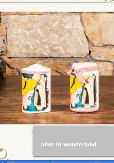 Βαζάκι με θέμα Αλίκη χώρα θαυμάτων μπομπονιέρα βάπτισης