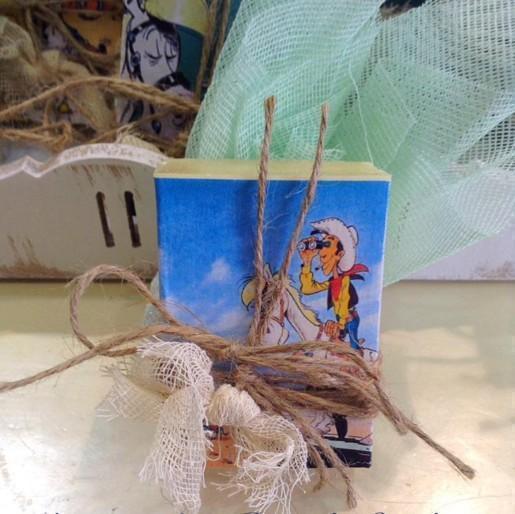 Σαπουνάκι σε σπιρτόκουτο με Lucky-Luke για μπομπονιέρα βάπτισης