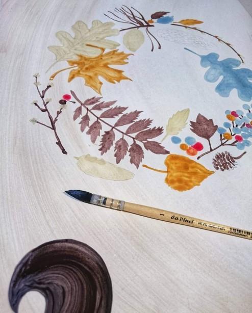 Πίνακας ευχών βάπτισης ονειροπαγίδα σε καμβά ζωγραφική στο χέρι