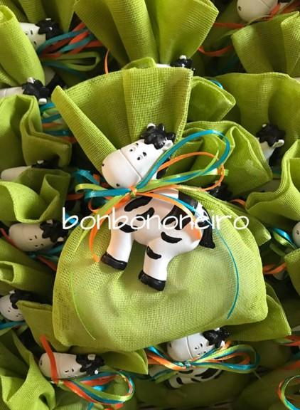 Πουγγί με κεραμικό αγελαδίτσα μπομπονιέρα οικονομική βάπτισης