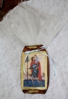 Εικόνα σε πάπυρο με τον Άγιο Χριστόφορο