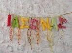 Όνομα μωρού σε σημαιάκια από πανί