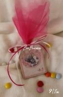 Καδράκι αρκουδάκι μπιμπερό ροζ