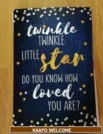 Κάδρο-welcome με little-star