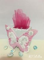 Πεταλούδα ροζ πορσελάνης μολυβοθήκη