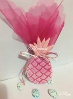 Κεραμικός ανανάς με σμάλτο ροζ