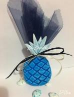Κεραμικός ανανάς με σμάλτο μπλε