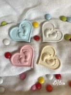 Κεραμικό στοιχείο καρδιά-πατούσες