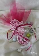Κεραμικό Ιππόκαμπος ροζ σμάλτο