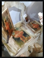 Μπαλαρίνα θέμα σε τουαλέτα-budoir κουτί για βαπτιστικά