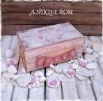 Antique rose-τριαντάφυλλα για ευχές κουτί
