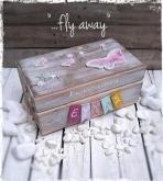 Οι πεταλούδες σε νέο vintage κουτί με ευχές