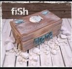 Το ψαράκι θέμα σε ευχών κουτί