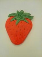 Μαγνητάκι φράουλα κεραμικό