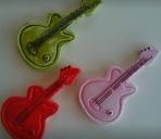 Οι κιθάρες σε κεραμικό με μαγνητάκι