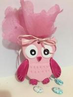 Κεραμική ροζ κουκουβάγια