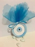Μάτι μπλε στρογγυλό κεραμικό